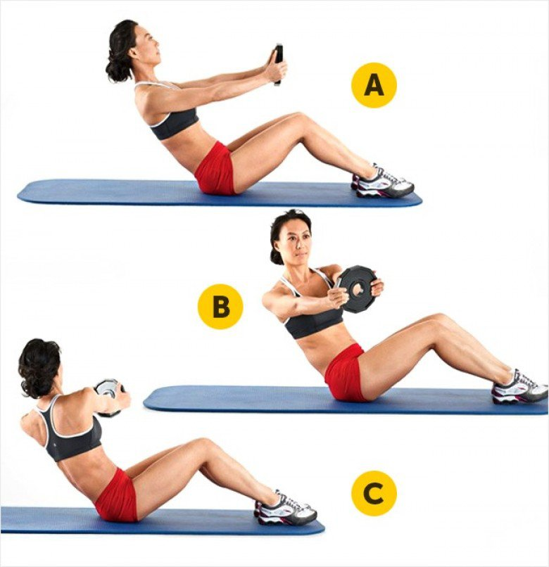 workout_ weighted twists